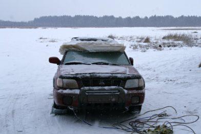 Спасаем автомобиль из-подо льда. из личного опыта…