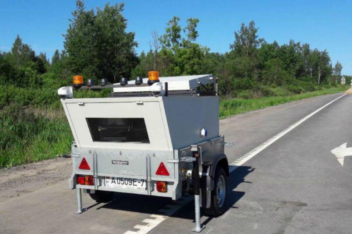 В Белоруссии появились дорожные камеры на прицепах