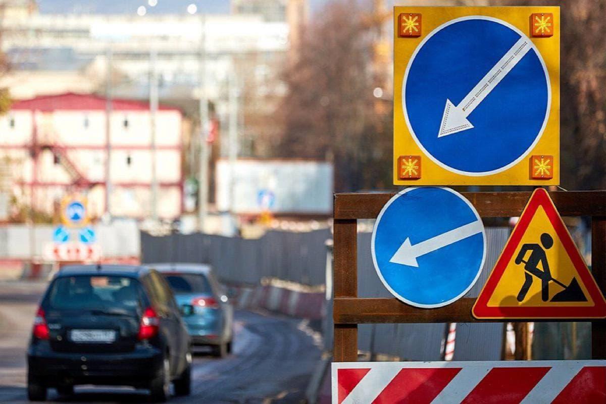 Временное изменение схемы движения на развязке МКАД с Осташковским шоссе