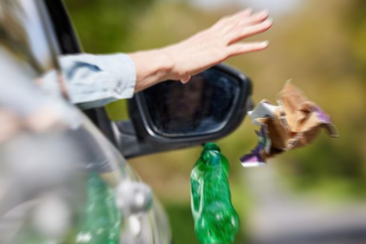 В КоАП внесут ответственность за мусор, выброшенный из автомобилей